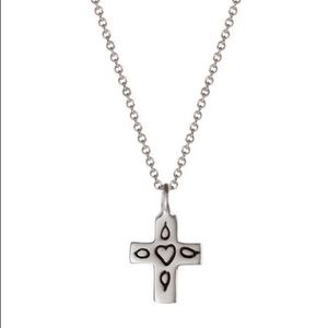 Me & Ro Sterling Silver Mexican cross necklace